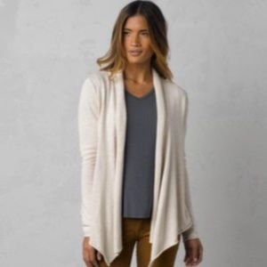 prAna Georgia Wrap Sweater in Winter GUC